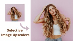 Selective Image Upscalers to Upscale Image without Losing Quality