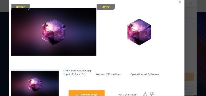 CubeBackgroundRemove