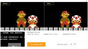How to Enlarge Images of Retro Video Games for Clear Effects